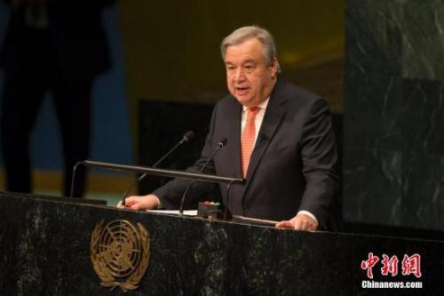 联合国候任秘书长安东尼奥・古特雷斯宣誓就职后致辞。