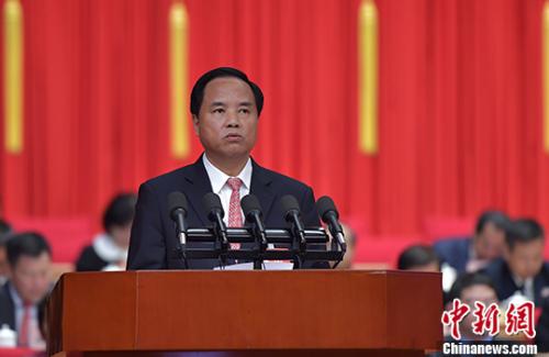 图为海南省委书记、海南省人大常委会主任刘赐贵。 中新社记者 骆云飞 摄