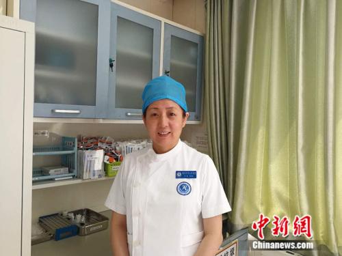 北京大学人民医院产科护士长孙敏 中新网记者 张尼 摄