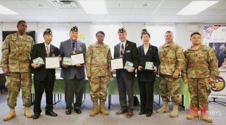 美国华裔退伍军人会获美国陆军嘉奖(图)