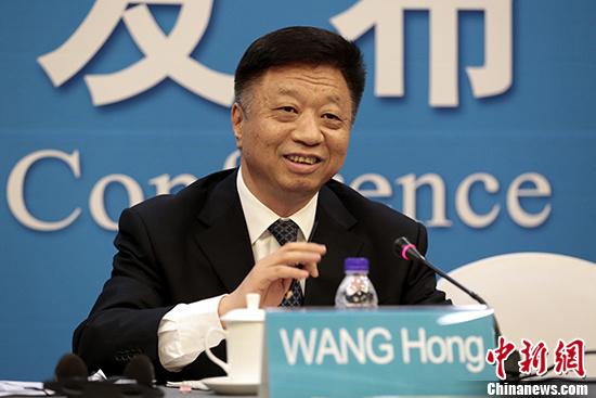 图为国家海洋局局长王宏。 中新社记者 李慧思 摄