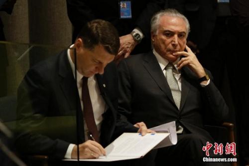 巴西总统特梅尔(资料图)
