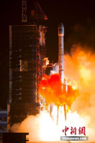 资料图:中国发射第23颗北斗导航卫星。中新社发 杨志远 摄