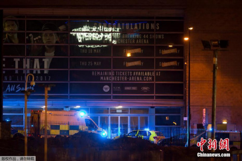 当地时间22日晚发生在曼彻斯特体育馆的爆炸事件,已经导致22人死亡