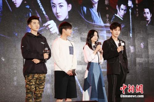 从左至右:金瀚、王子桀、彭豆豆、邢昭林