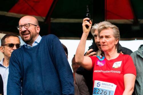 比利时公主为布鲁塞尔20公里长跑发令,致首相米歇尔听力受损。