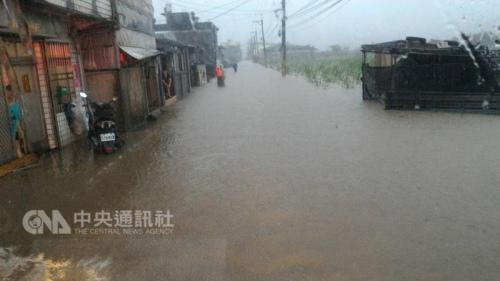 台湾遭雨袭北部局地超大暴雨新北市多地停班停课