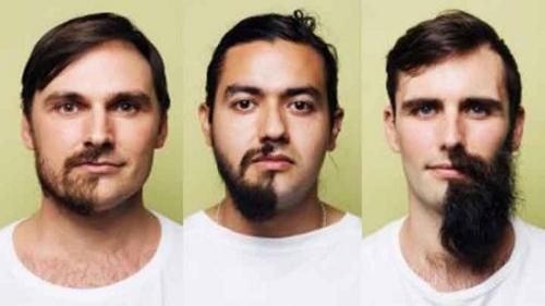 活动参加者会在90天内留胡须,然后在今年8月31日一同剃去半边胡须。