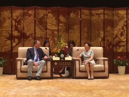浙江省副省長梁黎明與中東歐各國代表見面會現場 主辦方提供