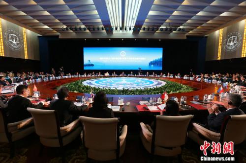 6月8日,在广西南宁举办的第二届中国—东盟大法官论坛通过《南宁声明》。中新社记者 李慧思 摄