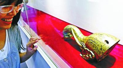 鎏金銅象首