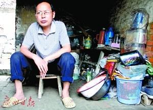 刘汉清在家中