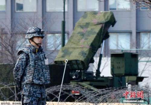"""当地时间1月30日,日本自卫队在东京周边部署了""""爱国者3""""型拦截导弹。"""