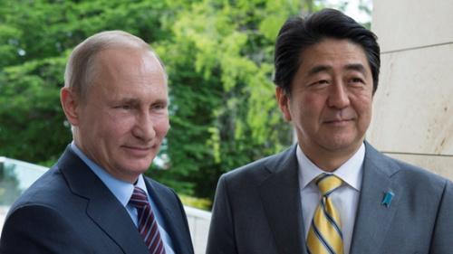 资料图:日俄首脑此前举行会谈