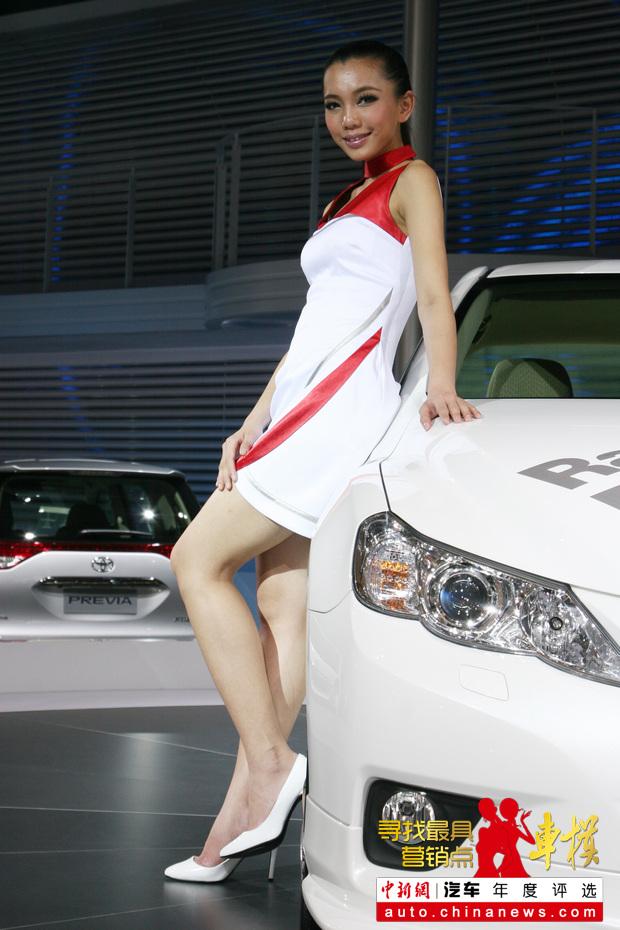 2011上海车展:广汽本田展台车模——中新网汽车频道