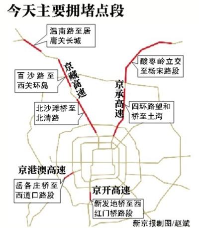 北京今或迎真正进出城高峰 京郊游增大高速压力图片