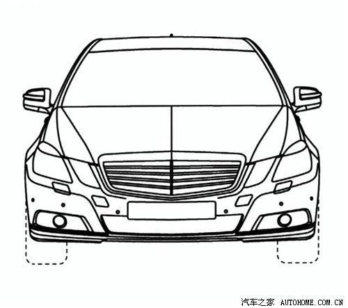 奔驰新e级加长版设计图曝光