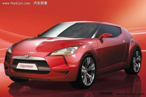 现代veloster量产版车型的设计模式,至少将保持原车概念版本的高清图片