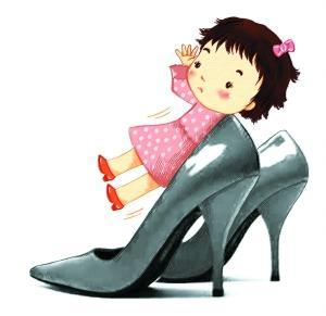 高跟鞋在幼齿中流行 2岁孩童也有高跟鞋(图)
