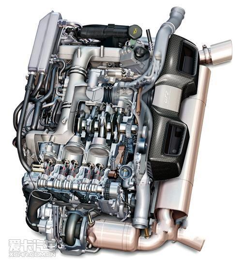 保时捷911 gt-2水平对置发动机结构图