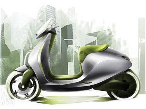 续航里程100公里 Smart推出电动摩托车
