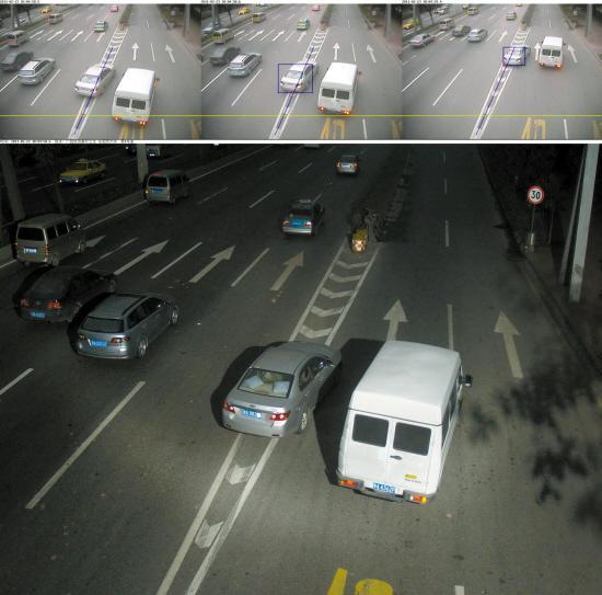 货车闯禁区电子眼拍摄