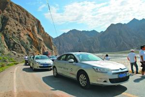 雪铁龙半履带汽车,横跨欧亚大陆到达北京,总行程达1.2115万公高清图片