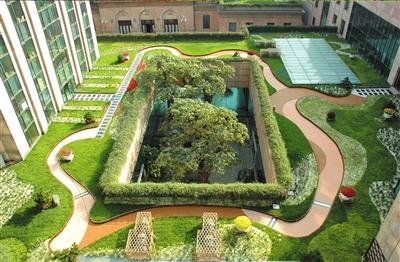 全国政协礼堂屋顶花园
