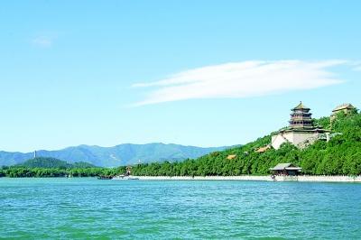 颐和园的昆明湖和万寿山 资料图片
