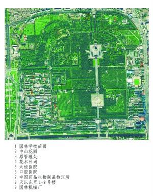 1 园林学校苗圃 2 中山花圃 3 原管理处 4 花木公司 5 天坛医院 6 口腔医院   7 中国药品生物制品检定所 8 天坛东里1-8号楼 9 园林机械厂   在天坛外坛西北角,有一处万余平方米的区域植被丰富,在夏季更是茵茵绿意,却被栅栏围护不对外开放。天坛公园昨天宣布,此处原为北京市园林学校教学所用,现已收回,明年将作为景观向游客开放。   当园长8年只进去过两次   如果说天坛如大家闺秀般,那么这里洋溢的便是小家碧玉的秀美。走进西北外坛深处的一扇栅栏门,莹白的积雪铺在不规则的林间小道,衬着苍松