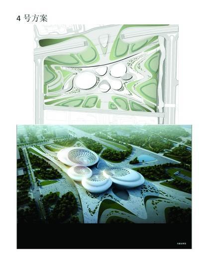 江苏大剧院四号方案设计图和效果图.