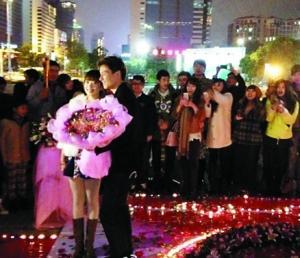 郜林/郜林在深圳浪漫求婚成功。...