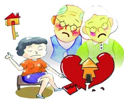 八旬老伯病床上被迫离婚 女儿为房子赶继母出门图片