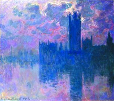 雾霾引发的文化现象:莫奈创作浓雾中的英国议会(图)