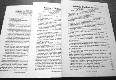 中国 吴岩供/图右一为《科幻研究》中国专辑封面。吴岩介绍,因是学术杂志,...