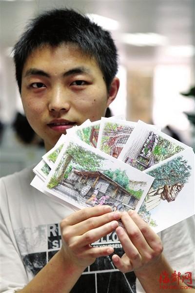 福州大学生手绘鼓岭明信片让吴家人了解这座小学更多荒图片