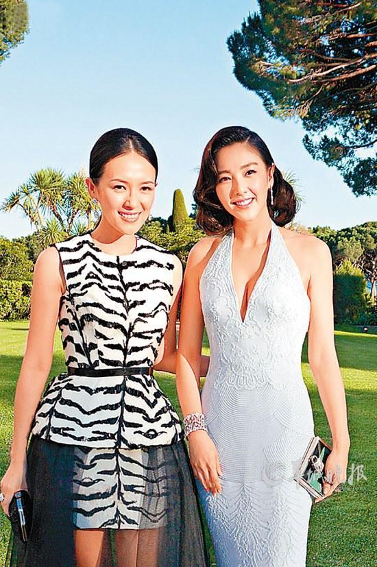 章子怡和张雨绮(右)