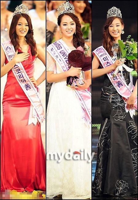 韩国小姐决赛落幕 三甲的鼻子一模一样?