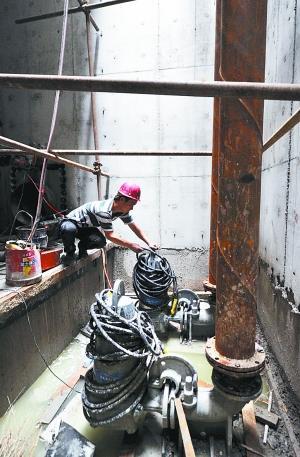北京西南三环泵站调蓄池率先具备蓄水能力