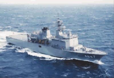 """""""扫海X光机"""":日本海上自卫队扫雷母舰"""