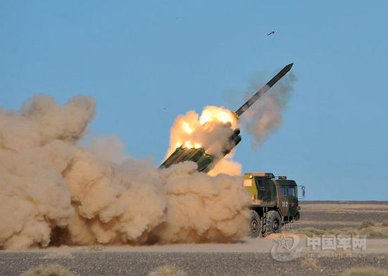远程火箭炮图片_图中国陆军PHL03300毫米多管远程火箭炮_军