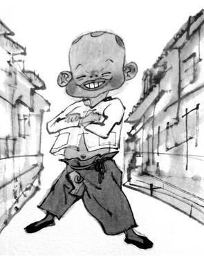 刘胡兰四格漫画作品