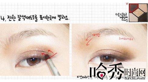学习韩式眼线的画法 打造李孝利妖媚眼妆(图)(2)-中新