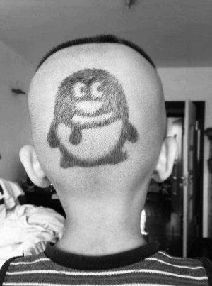 头发刻图案