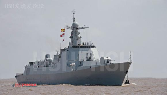 港路过时所拍 中国最先进的驱逐舰