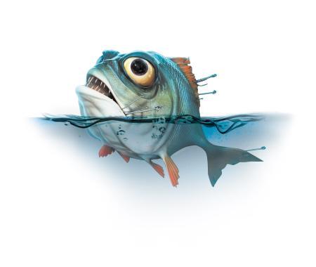 鱼简笔画大树