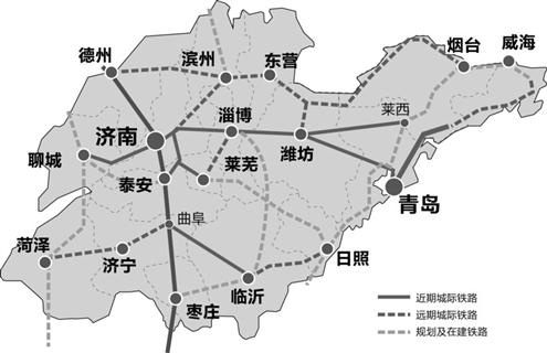 > 滕州至费县城际     线路:自京沪高速滕州站起,向东北方向经