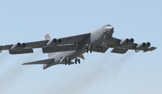 资料图:美国战略轰炸机B-52