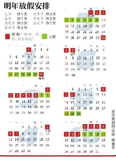 2014年节假日安排强势出炉:不让过除夕的节奏啊