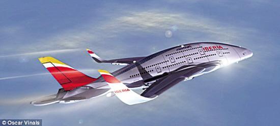 """未来大飞机""""天空鲸鱼""""概念照曝光"""